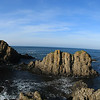 Panorama view of cliffs, Ballintoy Coastline, County Antrim, Northern Ireland