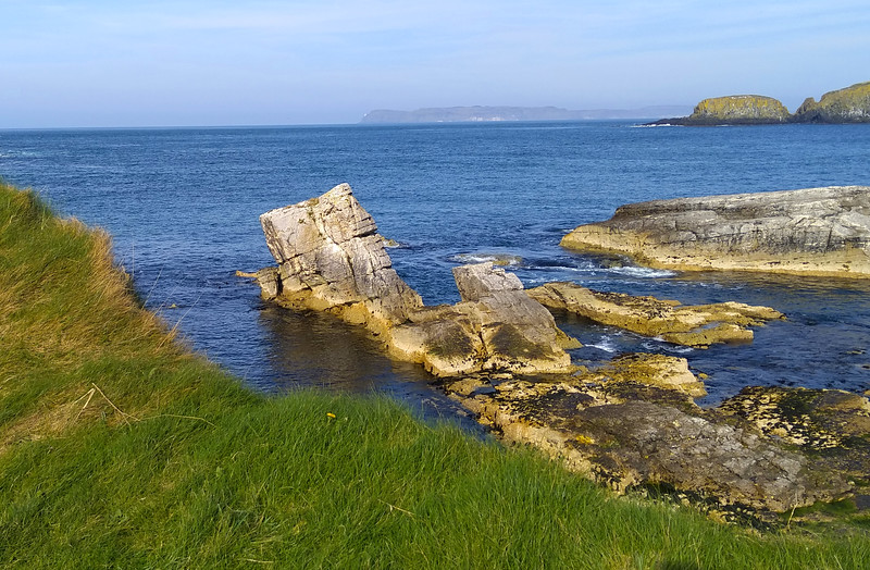 Cliffs on Ballintoy Coastline, County Antrim, Northern Ireland