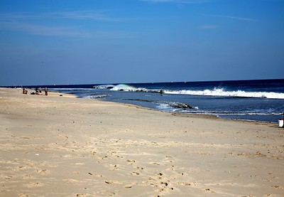 Surf Fishing at Sandy Hook on the Jersey Shore
