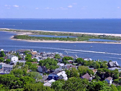 Sandy Hook at Jersey Shore as seen from Mount Mitchill