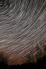 Star Trails - view of the starry sky from my front door