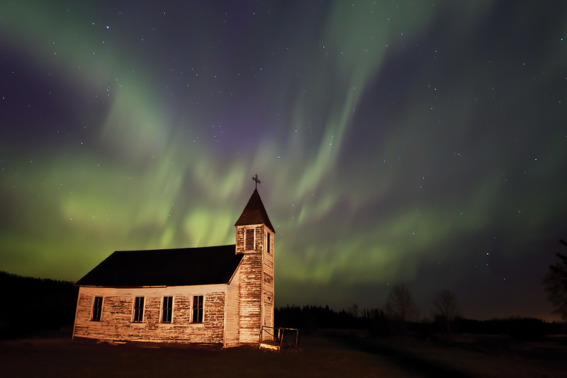 Tawatinaw Church, AB, Canada  -  this photo won me another prize. It was voted 'Photo of the Month (May)'. Lucky me! :o)