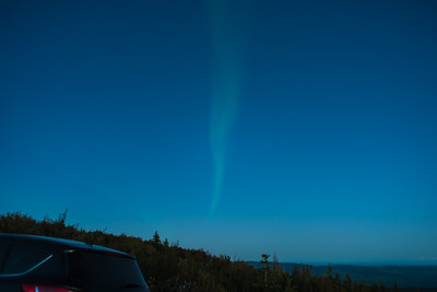 The first thing we saw was this faint streak in the eastern sky, about a half hour after sunset