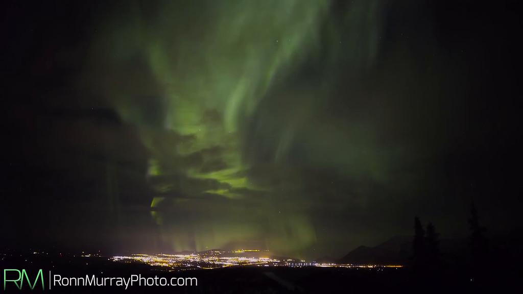Cloudy Aurora in Fairbanks, Alaska