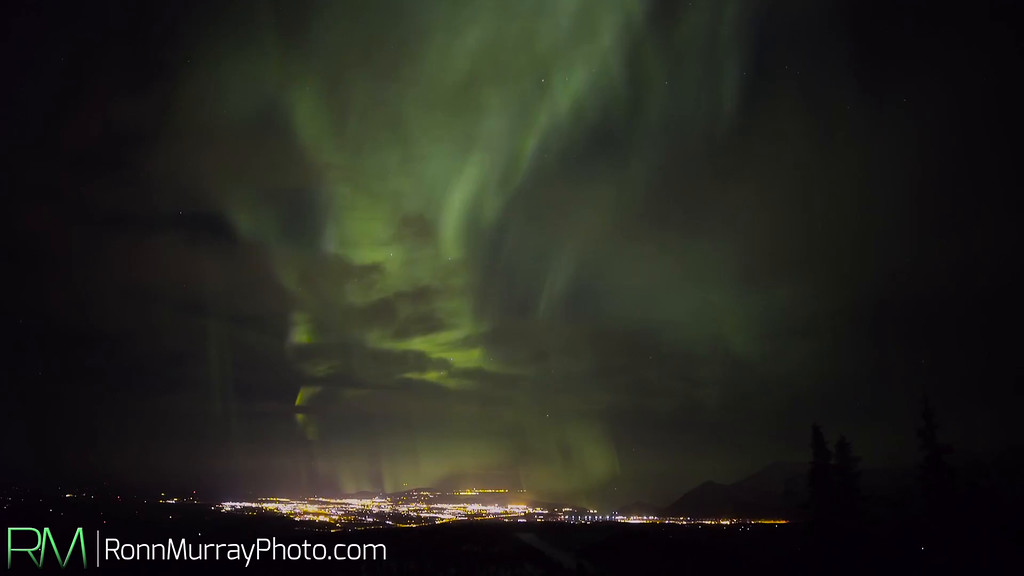 Cloudy Aurora in Fairbanks, Alaska
