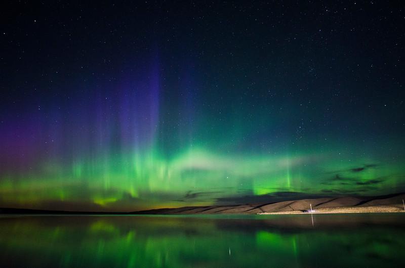 Northern Lights at Gregoire Lake, Alberta