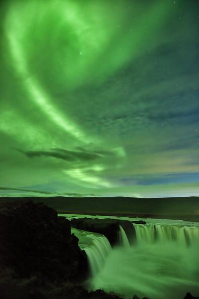 Swirling Sky, Churning Waterfall