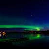 The Northern Lights over Lake Metigoshe