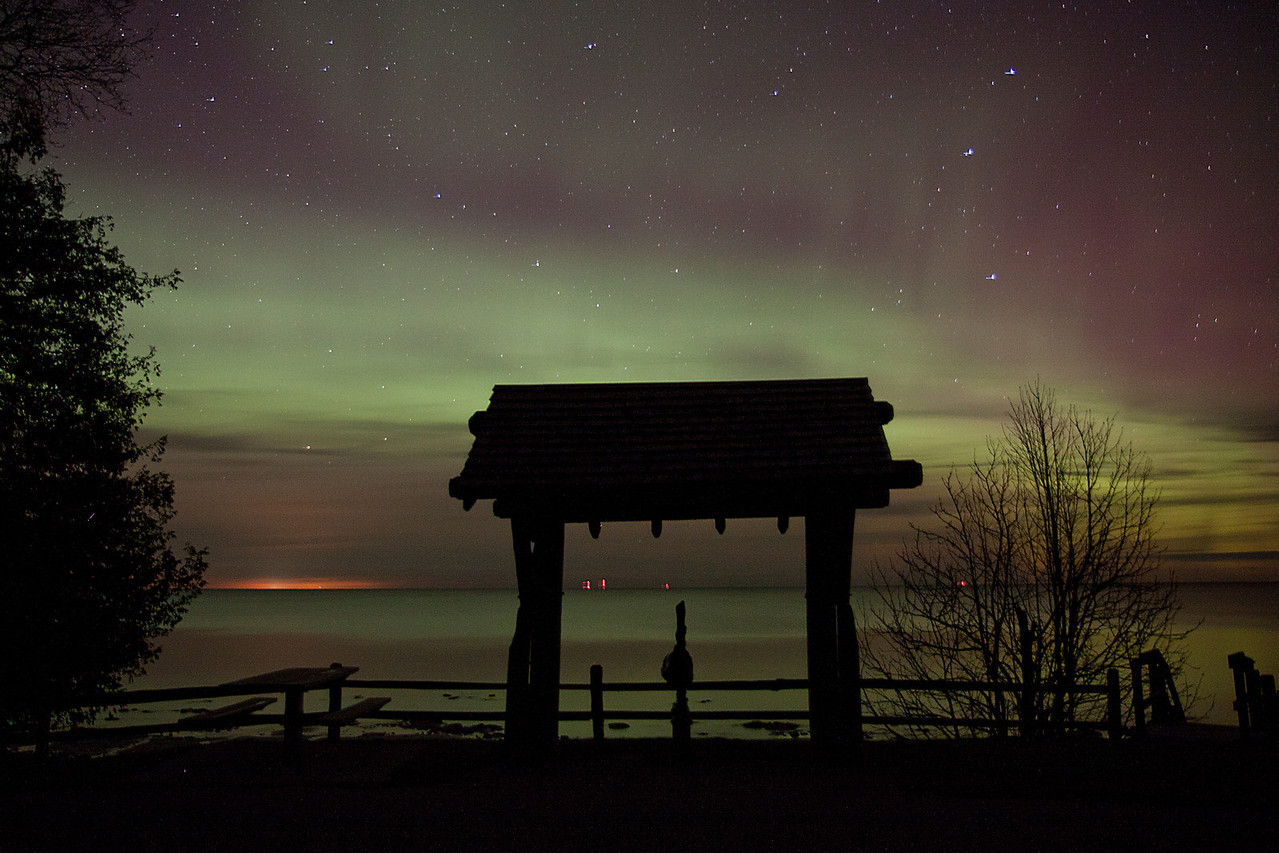Aurora over Lake Huron
