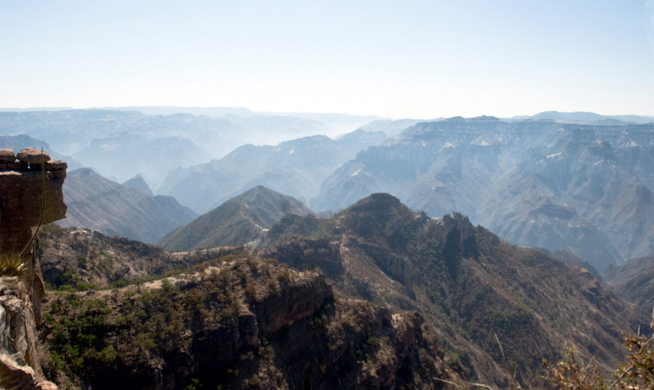Copper Canyon view with balancing rock