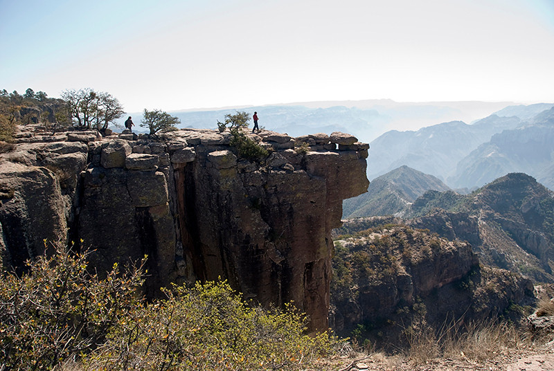 Walking to balancing rock Copper Canyon