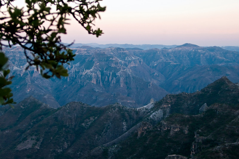 Copper Canyon view at sunset