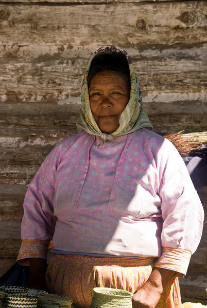 "The Tarahumara Indian woman smiled when I tried to pronounce ""Thank You"" in her language."