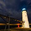 Manistee Lighthouse at Midnight