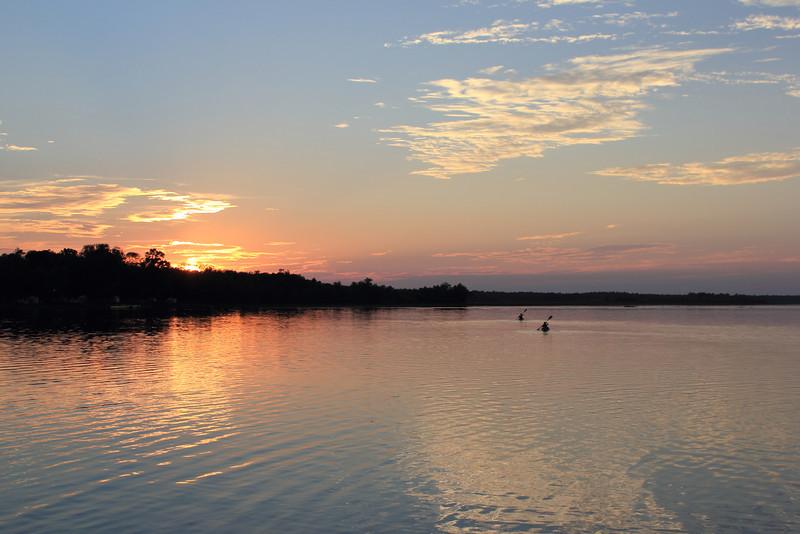 Kayaking on Bass Lake
