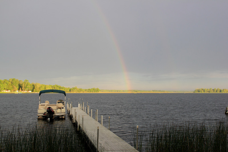 Rainbow over Bass Lake