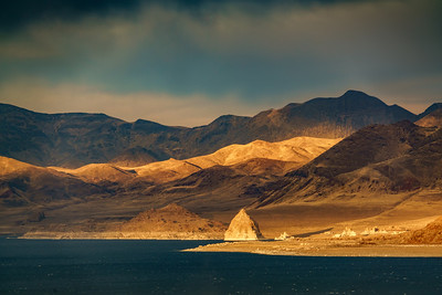 Pyramid Lake on a November Sundown