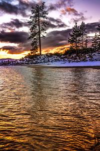 Sand Harbor Winter Sunset