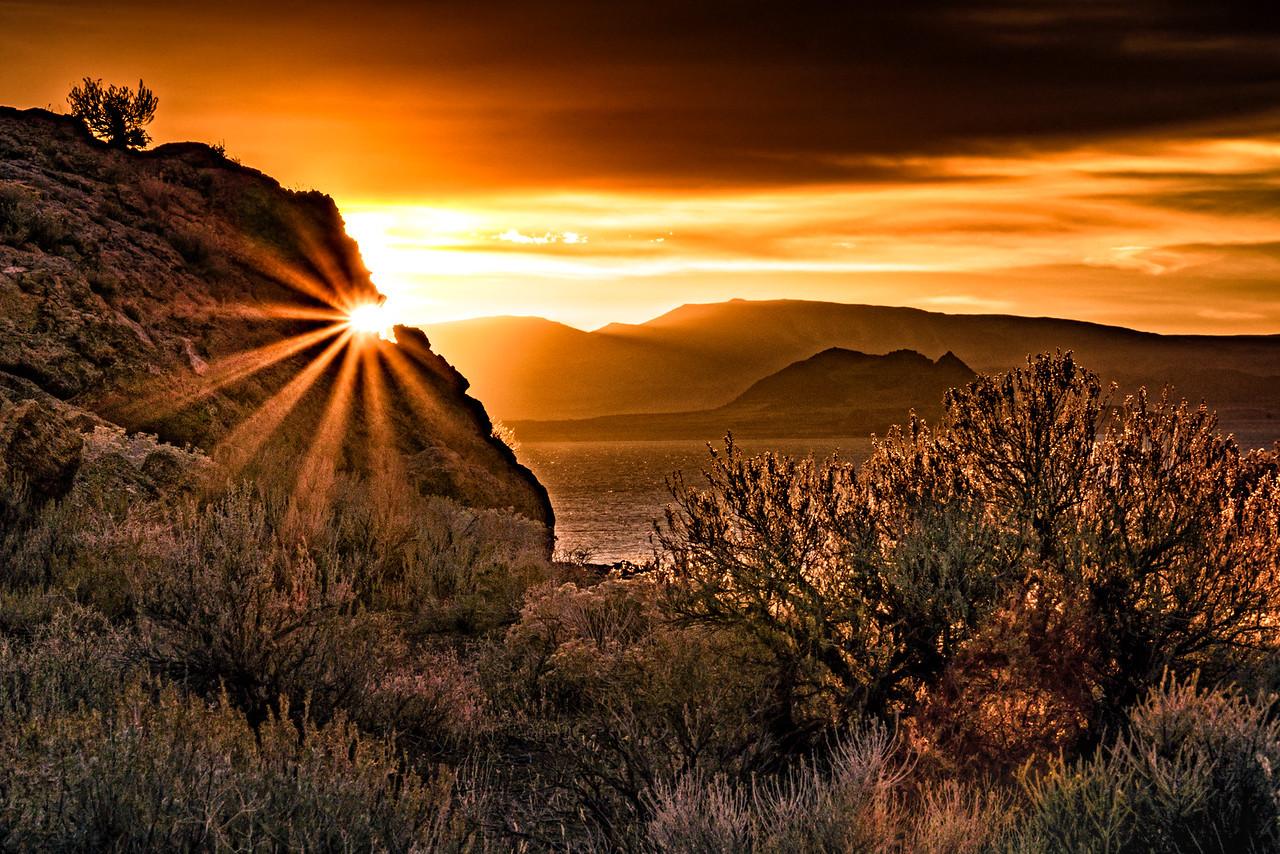 November Sunrise at Pyramid Lake