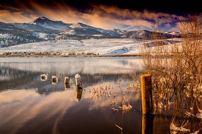 Little Washoe Lake Winter Sunset