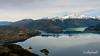 Aerial shot of Lago Bertand, Lago Plomo and Parque Nacional Laguna San Rafael, Aysen, Chile