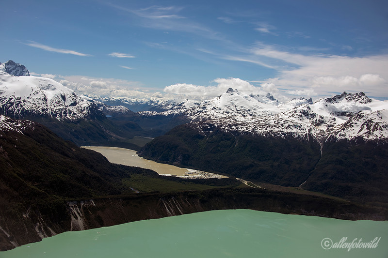 Monte San Valentin, Lago Fiero and Lago Leones, Parque Nacional Laguna San Rafael, Patagonia, Chile