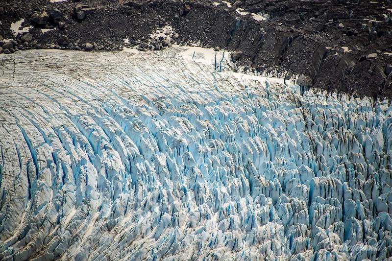Glacier Los Leones, center glacier, Parque Nacional Laguna San Rafael, Aysen, Patagonia