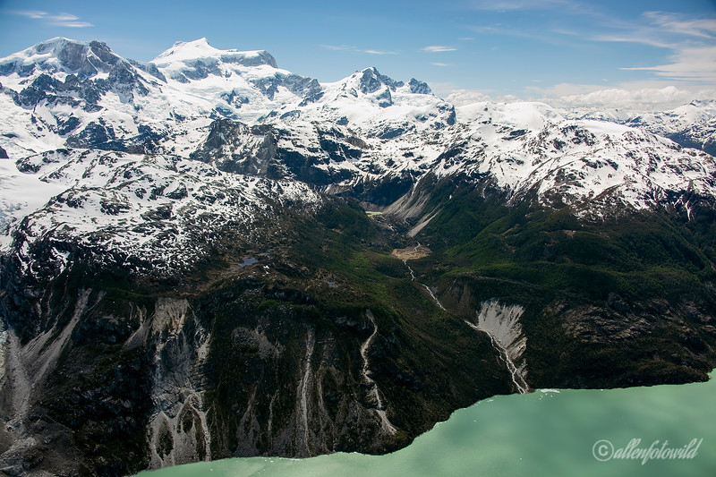 Run-off from the icefields of Parque Nacional Laguna San Rafael into Lago Leones, Patagonia, Chile