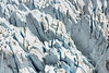 Glacial penitentes, Glacier Nef, Parque National Laguna San Rafael, Aysen, Chile