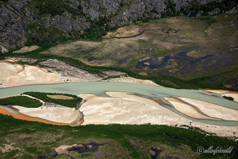 Rio Soler en route from San Rafael Icefields to Lago Plomo, Aysen, Chile