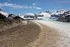 Aerial shot of Glacier Nef, Parque National Laguna San Rafael, Aysen, Patagonia, Chila