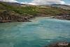Confluencia of the clear Rio Baker and milky Rio Neff, Carretera Austral, Cochrane, Patagonia, Chile