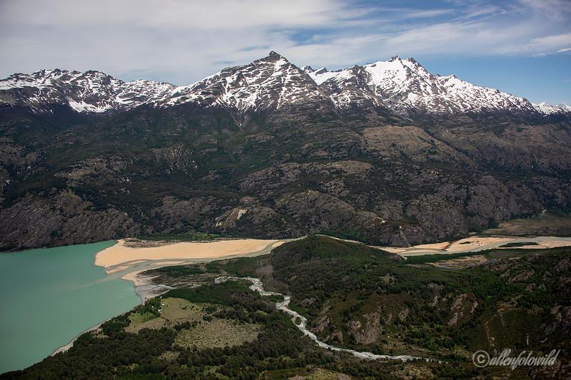 Rio Loler with Estero Pina and Cordon Soler, Aysen, Chile