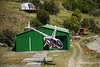 Open door helicopter taking off from Terra Luna Lodge  for the Parque Nacional Laguna San Rafael, Puerto Guadal, Patagonia