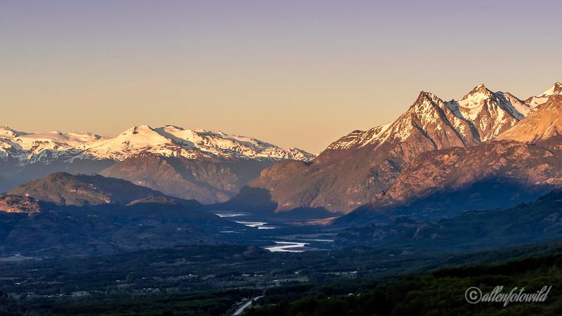 Cordillera Castillo and the Ibanez River valley near Mirador Cerro Castillo, Patagonia