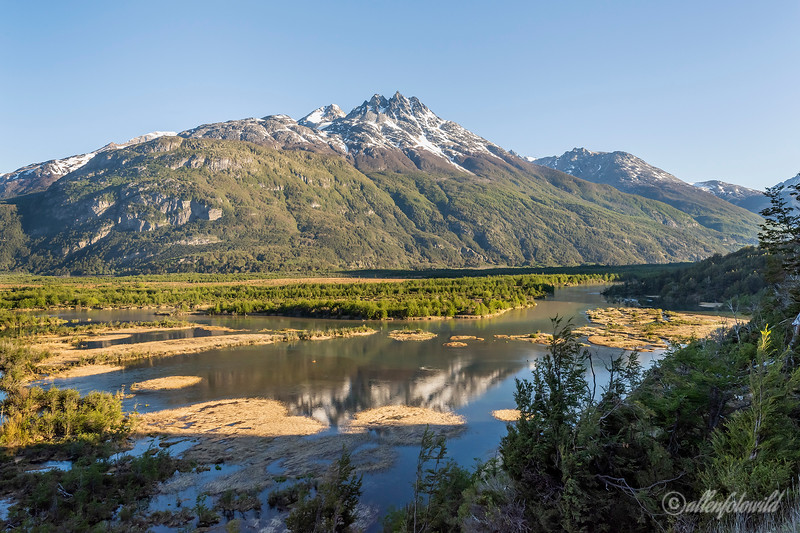 Cordillera Castillo and the Ibanez River Valley, Mirador Confluencia, Carretera Austral near Lago Verde, Patagonia