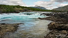Looking upstream on Rio Baker at the waterfall, near the confluence with Rio Neff, near Cochrane, Patagonia, Chile