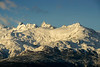 Snowy peaks and icefields, early morning, Carretera Austral, Lago General Carrera, Patagonia
