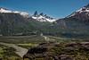 Estero de Nieve O Desparramad entering Rio Ibanez, Cordillera Castillo, Carretera Austral, Patagonia