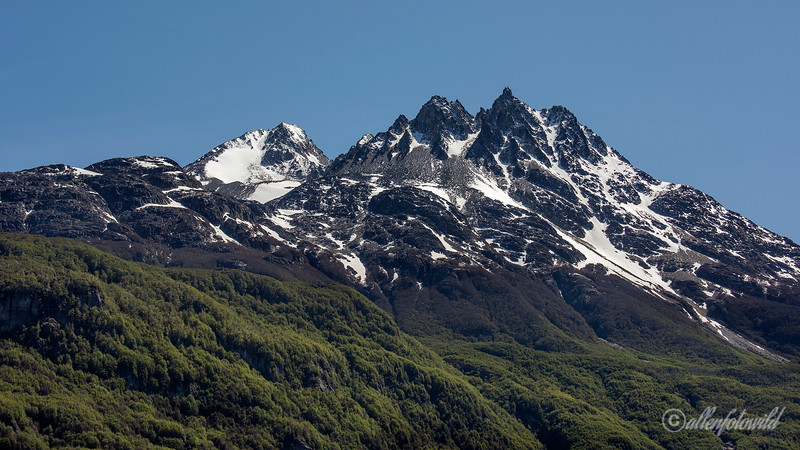 Cordillera Castillo from Mirador Confuencia, Carretera Austral, Patagonia