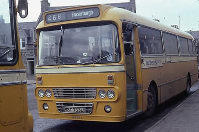 Northern NPE57 Fraserburgh Bus Station Mar 82