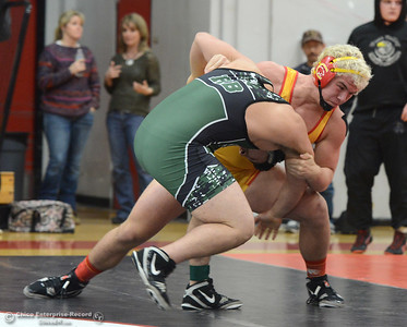 Patrick Whitmore vs Marco Ortiz in the Northern Section Division I finals Saturday, Feb. 18, 2017, at Chico High in Chico, California. (Dan Reidel -- Enterprise-Record)