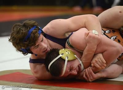 Max Schumaker vs Quinn Simard in the Northern Section Division I finals Saturday, Feb. 18, 2017, at Chico High in Chico, California. (Dan Reidel -- Enterprise-Record)