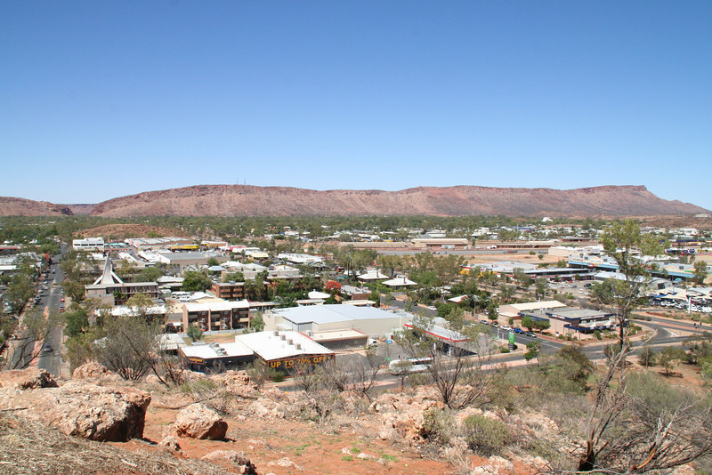 View from Alice Springs War Memorial