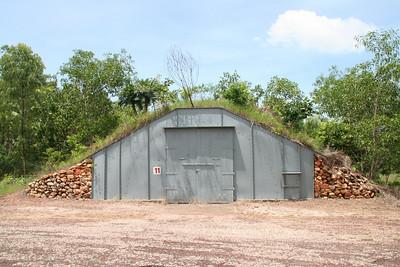 WWII ammunition bunker at Charles Darwin Park
