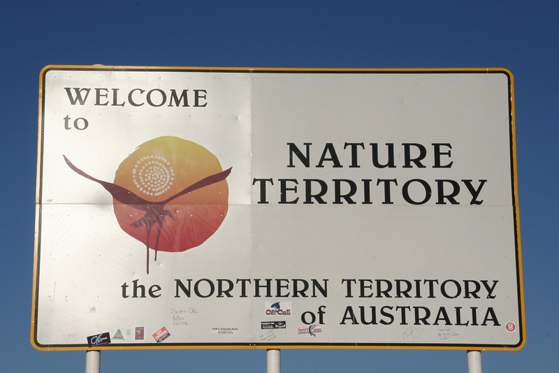 NT/QLD border on the Barkly Highway
