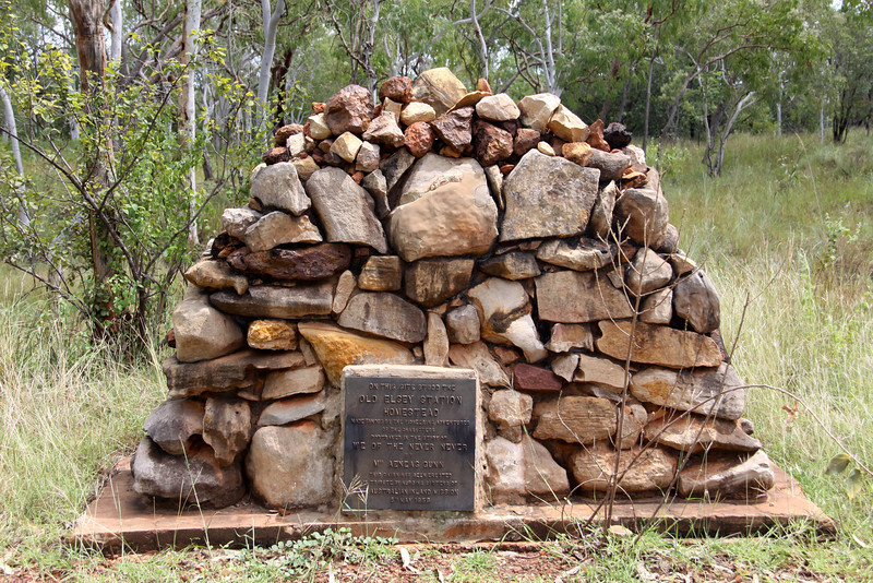 Cairn marking the spot where the original Elsey Homestead once stood.