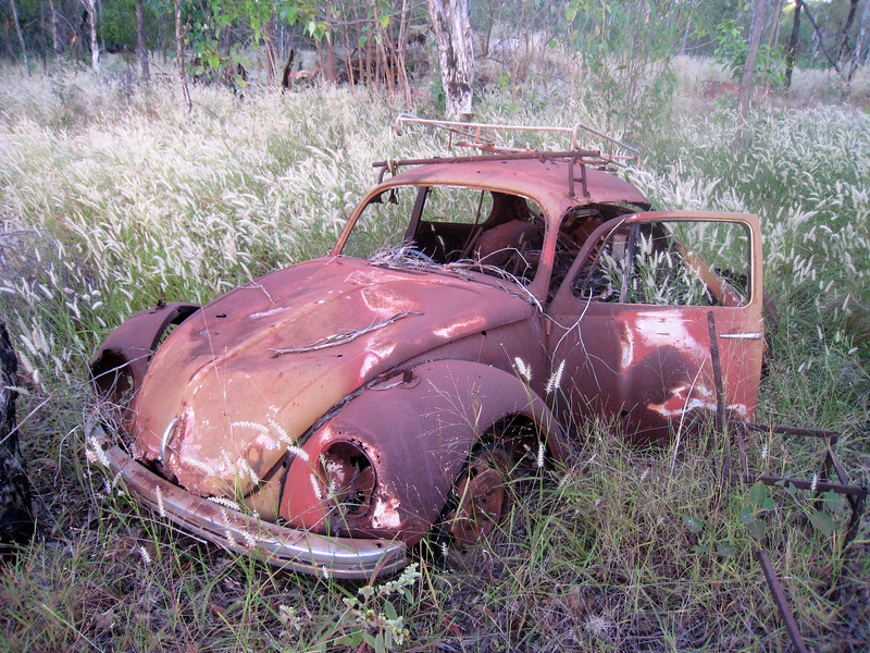 A rusted out Volkswagen Beetle outside Galiwinku, Elcho Island in May 2008