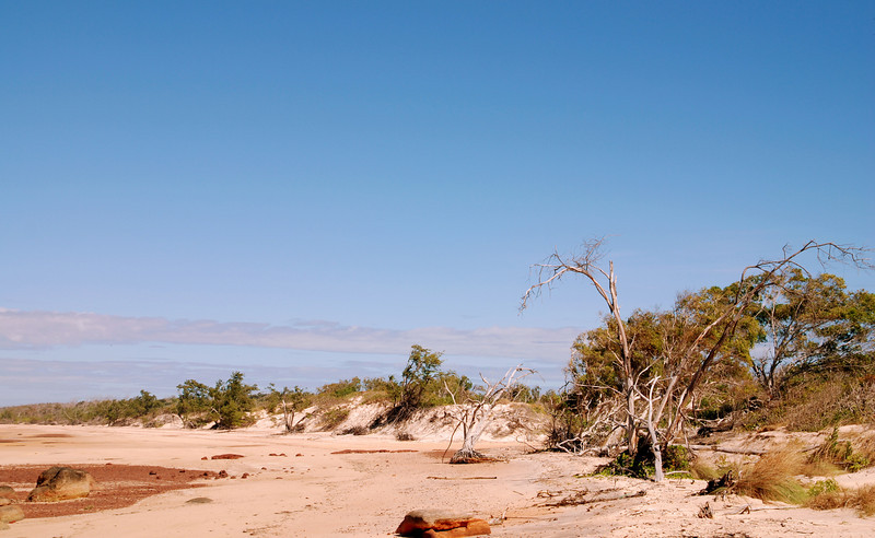 The beach at Djurranalpi Outstation on Elcho Island in July 2008