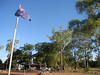 The Australian flag in front of the council office in the Aboriginal community of Galiwinku, Elcho Island in May 2008